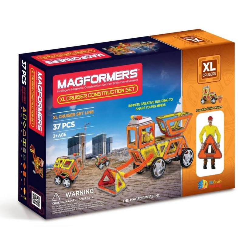 MAGFORMERS Магнитный конструктор XL Cruisers Строители magformers магнитный конструктор xl cruiser set цвет красный желтый