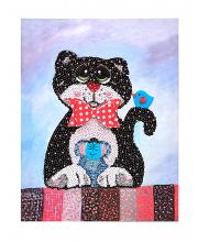 Мозаика из пайеток Кошки-мышки Волшебная мастерская