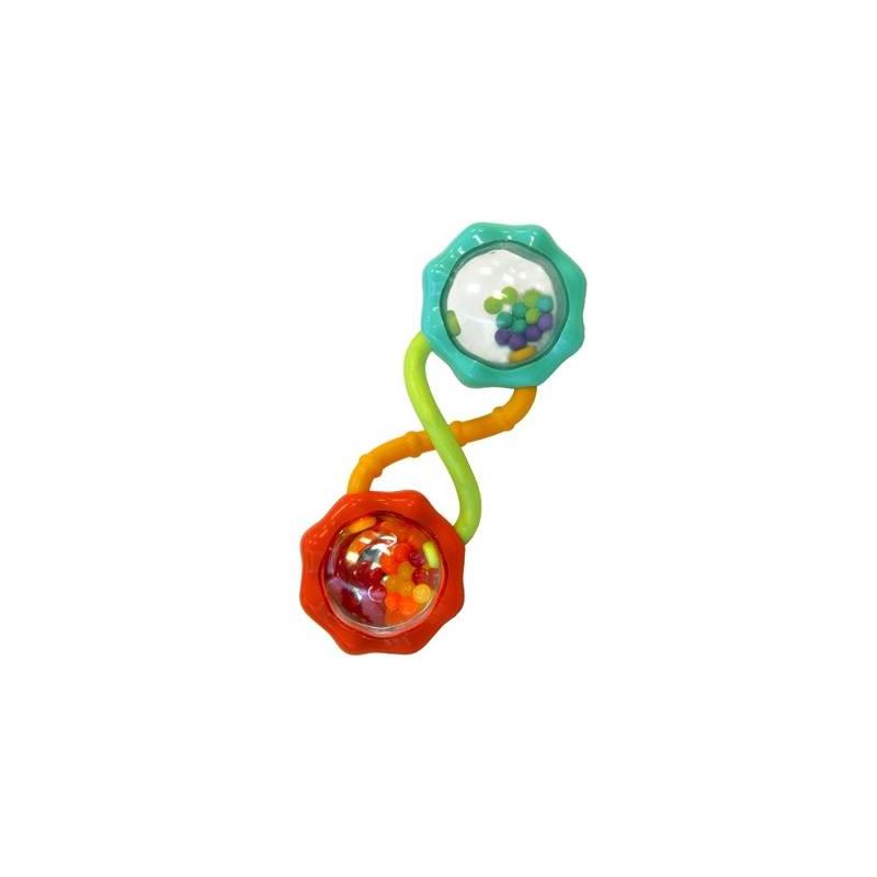 Погремушка Весёлые шарикиПогремушка Весёлые шарики марки Bright Starts.<br>Развивающая игрушка с разноцветными шариками, которые издают веселые, звонкие звуки, дарящие малышу веселье и радость.Еще одна особенность игрушки – это отражение разноцветных шариков в зеркальной поверхности, которое создает игру цветов, так сильно нравящуюся всем детям. Модель отличается своими небольшими размерами, благодаря чему любой ребенок может ее удобно держать в ручках.<br><br>Возраст от: 3 месяца<br>Пол: Не указан<br>Артикул: 653254<br>Бренд: США<br>Размер: от 3 месяцев