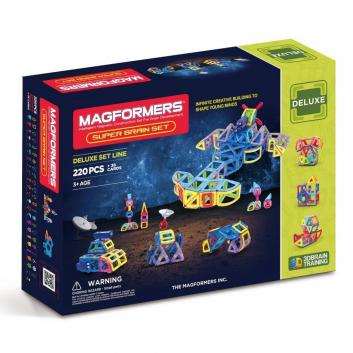 Игрушки, Магнитный конструктор Super Brain Up set MAGFORMERS 658073, фото
