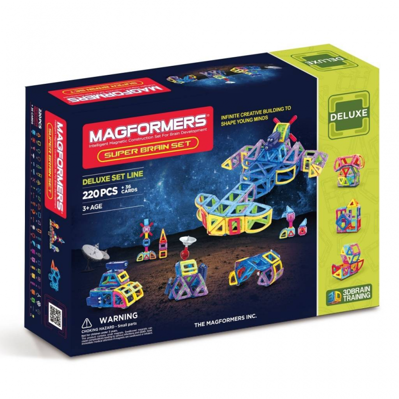 MAGFORMERS Магнитный конструктор Super Brain Up set магнитный конструктор magformers space treveller set 35 элементов 703007