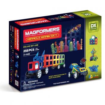 Игрушки, Магнитный конструктор Miracle Brain set MAGFORMERS 658077, фото