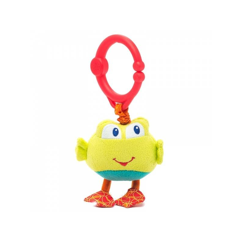 Подвеска ЛягушкаПодвеска Лягушка серии Дрожащий дружок марки Bright Starts.<br>Развивающая игрушка украшена милой лягушкой, которая порадует вашегомалыша. Нужно только потянуть за игрушку и она задрожит. Текстурная подвеска, приятная на ощупь, легко крепится на коляску, кроватку, развивающий коврик при помощи удобного кольца.<br><br>Возраст от: 0 месяцев<br>Пол: Не указан<br>Артикул: 653272<br>Бренд: США<br>Размер: от 0 месяцев