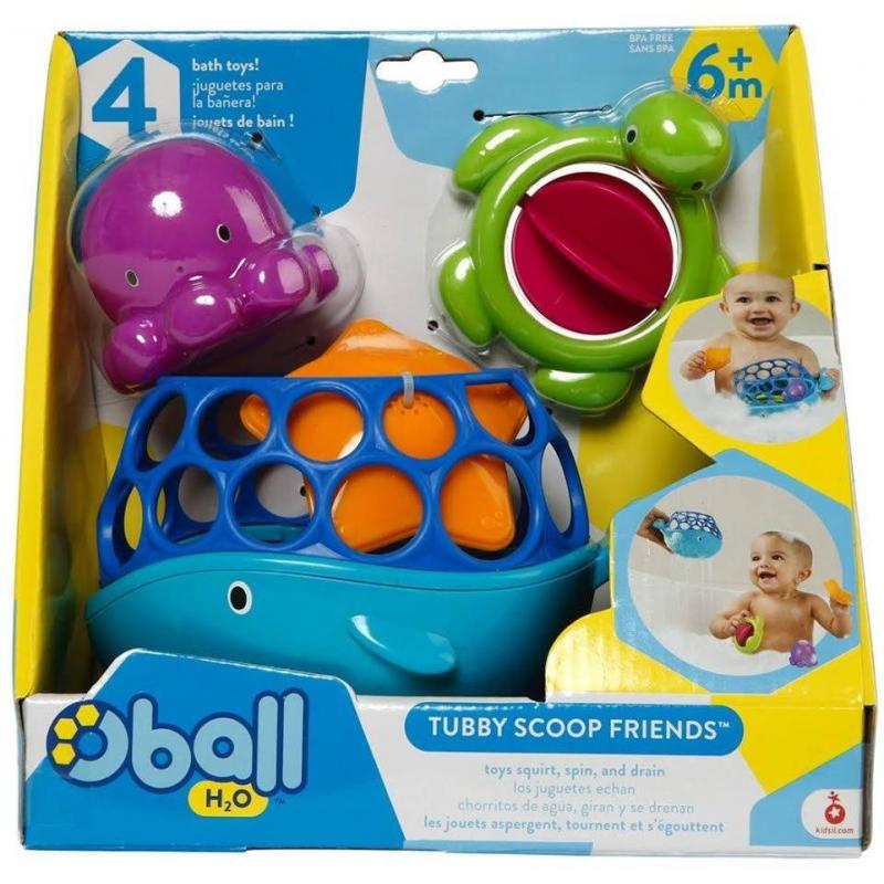 Oball Комплект игрушек для купания Морские друзья