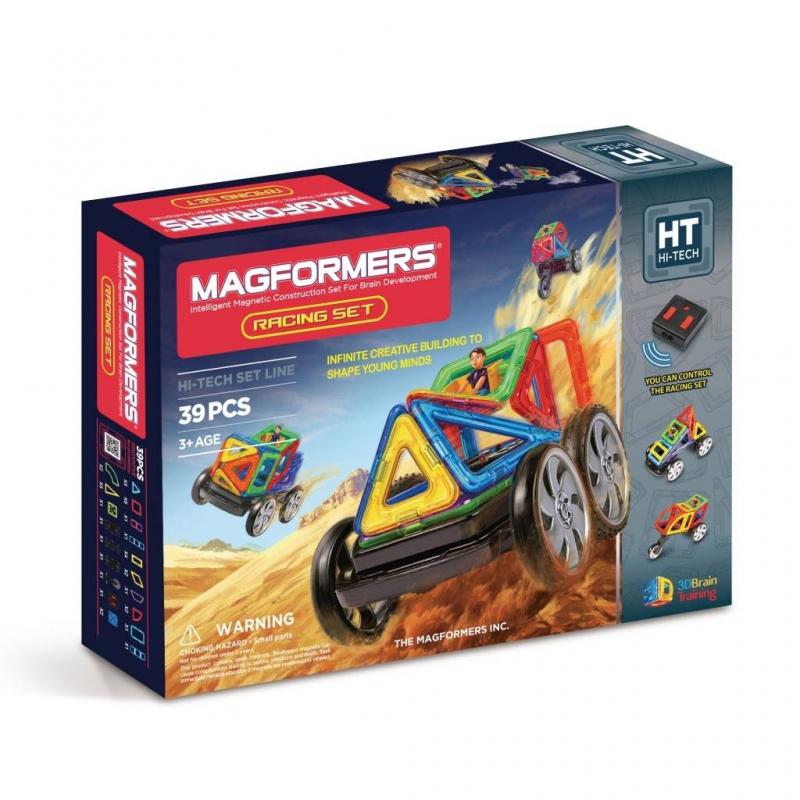 MAGFORMERS Магнитный конструктор Racing set магнитный конструктор magformers space treveller set 35 элементов 703007