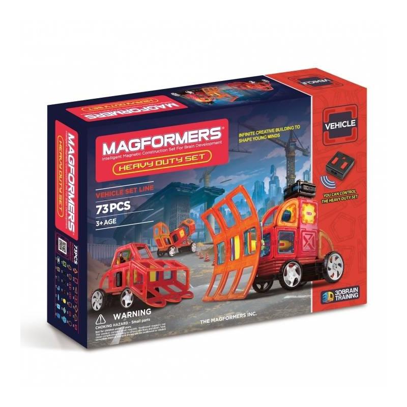 Магнитный конструктор Heavy Duty SetМагнитный конструктор Heavy Duty Set марки Magformers длямальчиков.<br>Для развития воображения и приятного, а главное полезного времяпровождения отлично подойдут наборы от маркиMagformers.<br>Набор конструктора состоит из73красочных ипрочных элементов, а также модель дополненаколесами, пультом дистанционного управления, источником питания и элементами вращения. С наборомHeavy Duty Setможно сделатьпростые и сложные модели спецтехники.Занимаясь с таким конструктором, ребенок развивает фантазию, знакомится с геометрическими фигурами, а также весело и с пользой проводит время в кругу друзей и родных.<br>Размер:45х9,5х32см.<br>Вес: 2,20 кг.<br><br>Возраст от: 3 года<br>Пол: Для мальчика<br>Артикул: 658089<br>Бренд: США<br>Страна производитель: Корея<br>Размер: от 3 лет