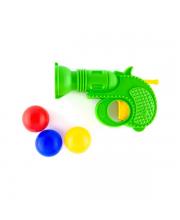 Пистолет с шарами в ассортименте Пластмастер