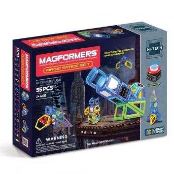 Игрушки, Магнитный конструктор Magic Space MAGFORMERS 658090, фото