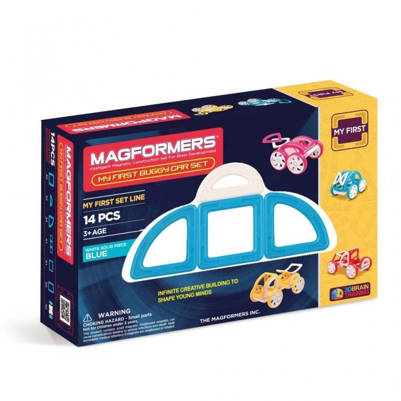 MAGFORMERS Магнитный конструктор My First Buggy Car Set магнитный конструктор magformers space treveller set 35 элементов 703007