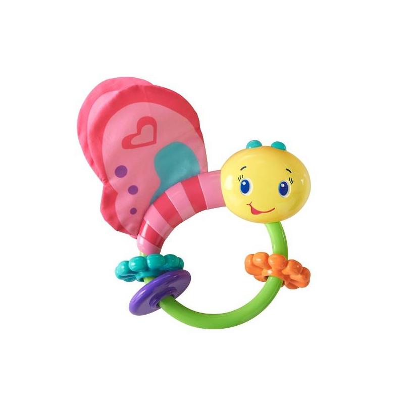 Купить Погремушка Розовая бабочка, Bright Starts, от 3 месяцев, Для девочки, 653298