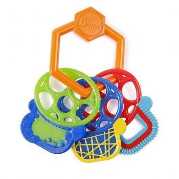 Игрушки, Прорезыватель Разноцветные ключики Oball 653321, фото