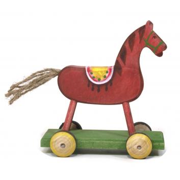 Игрушка-каталка Конь Малинка