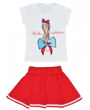 Комплект футболка и юбка Счастливая Малинка