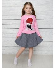 Комплект лонгслив и юбка Счастливая Малинка