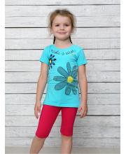 Комплект футболка и велосипедки Счастливая Малинка