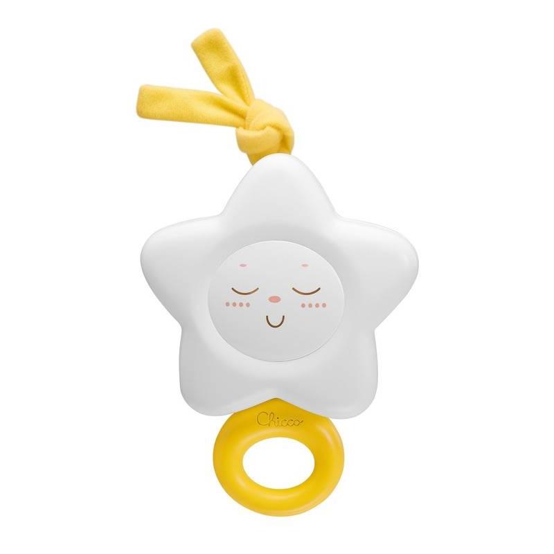Подвеска ЗвездаПодвеска Звезда маркиChicco.<br>Великолепная классическая игрушка выполнена в новом дизайне, теперь она с более мягкими и округлыми формами, а также новым цветовым решением. Если потянуть за кольцо, то зазвучит нежная мелодия, которая успокоит и расслабит малыша.<br><br>Возраст от: 0 месяцев<br>Пол: Не указан<br>Артикул: 653473<br>Бренд: Италия<br>Размер: от 0 месяцев