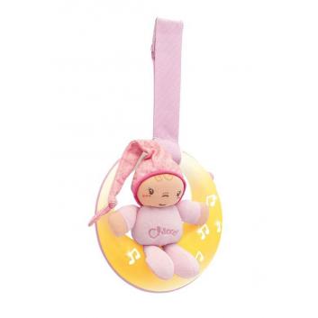 Игрушки, Подвеска Спокойной ночи Chicco (розовый)653475, фото