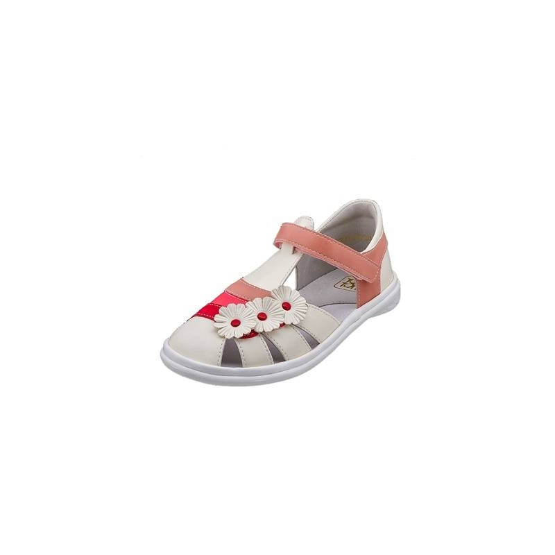 СандалетыСандалеты белогоцвета марки Топ-Топдлядевочек.<br>Стильные сандалеты на липучке выгодно подчеркнуты вставками розового и красного цветов, а также объемными цветочками.Подошва из ТЭП легкая и упругая,такжеимеет высокую стойкость к истиранию, такая обувь прослужит долго. Стелька из натуральной кожи позволяет ножкам дышать и отличается исключительной мягкостью.<br><br>Размер: 30<br>Цвет: Белый<br>Пол: Для девочки<br>Артикул: 647665<br>Бренд: Россия<br>Страна производитель: Россия<br>Сезон: Весна/Лето<br>Материал верха: Искусственная кожа<br>Материал стельки: Натуральная кожа<br>Материал подошвы: ТЭП (термопластик)
