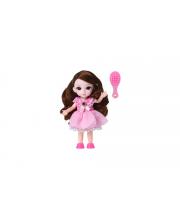 Кукла шарнирная Малышка Лили шатенка с расческой 16 см Funky Toys