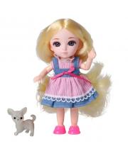 Кукла шарнирная Малышка Лили блондинка с собачкой 16 см Funky Toys