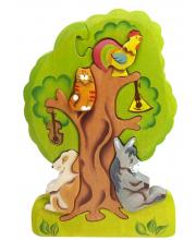 Пирамидка Бременские музыканты на дереве Сказки дерева