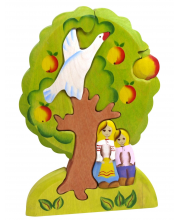 Пирамидка Гуси-лебеди яблоня Сказки дерева
