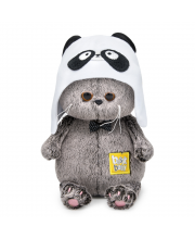 Мягкая игрушка Басик BABY в шапке - панда 20 см BUDI BASA
