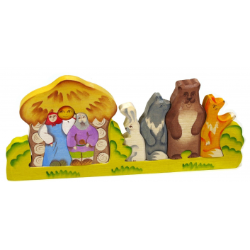 Игрушки, Пирамидка Колобок Сказки дерева 647542, фото