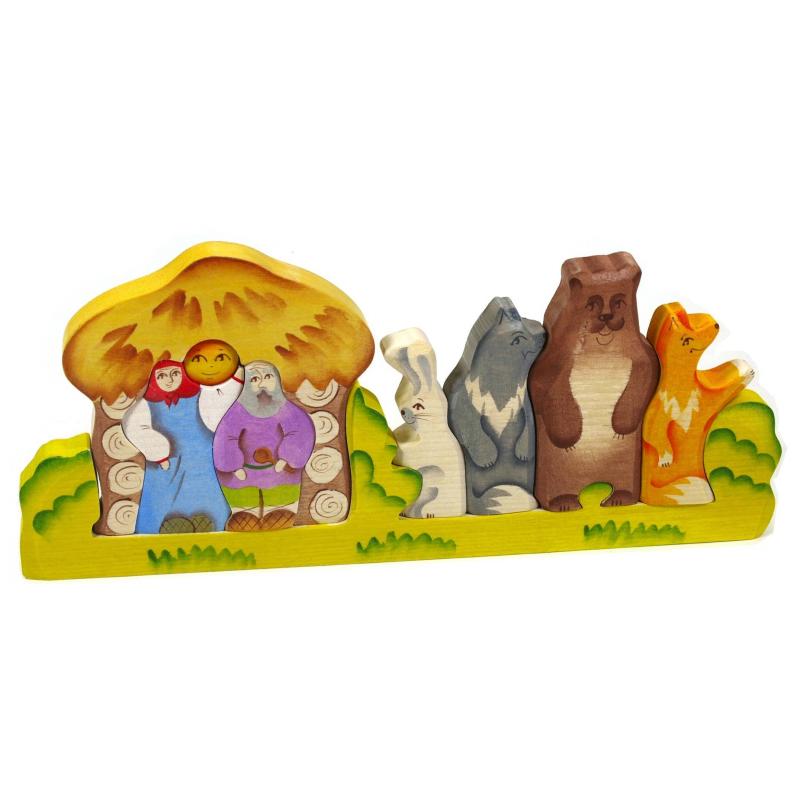 Купить Пирамидка Колобок, Сказки дерева, от 3 лет, Не указан, 647542