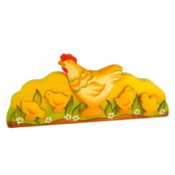 Игрушки, Пирамидка Курица и цыплята Сказки дерева 647544, фото