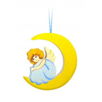Игрушки, Подвеска Ангел на луне Сказки дерева (голубой)647554, фото
