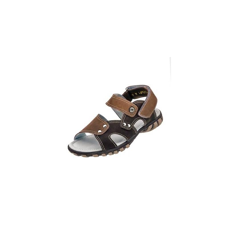 СандалетыСандалеты коричневогоцвета марки Топ-Топдлямальчиков.<br>Стильные сандалеты на липучке выгодно подчеркнуты контрастной строчкой, вставками более светлого оттенка, а также серебристой фурнитурой.Подошва из ТЭП легкая и упругая,такжеимеет высокую стойкость к истиранию, такая обувь прослужит долго. Стелька из натуральной кожи позволяет ножкам дышать и отличается исключительной мягкостью.<br><br>Размер: 27<br>Цвет: Коричневый<br>Пол: Для мальчика<br>Артикул: 647693<br>Страна производитель: Россия<br>Сезон: Весна/Лето<br>Материал верха: Искусственная кожа<br>Материал стельки: Натуральная кожа<br>Материал подошвы: ТЭП (термопластик)<br>Бренд: Россия