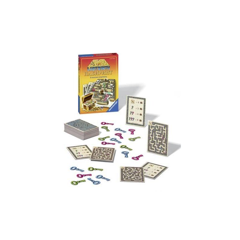 RAVENSBURGER Настольная игра Лабиринт. В поисках сокровищ магнитный лабиринт в минске
