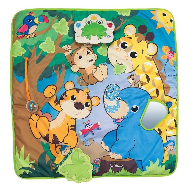 Chicco Музыкальный игровой коврик Джунгли chicco коврик развивающий jungle playmat
