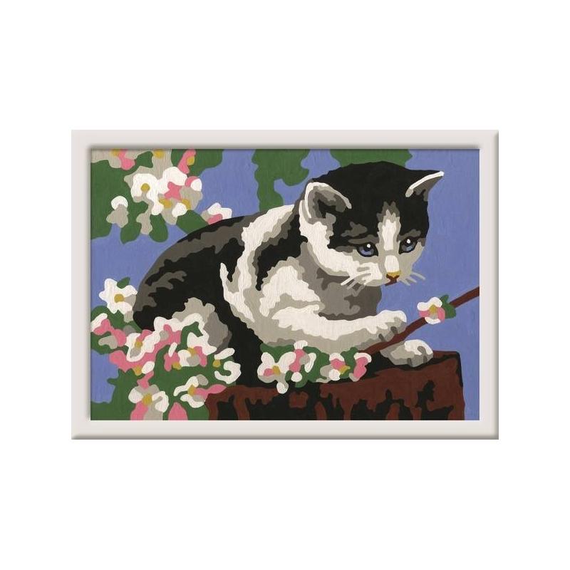 Картина по номерам Котенок в цветах от Nils