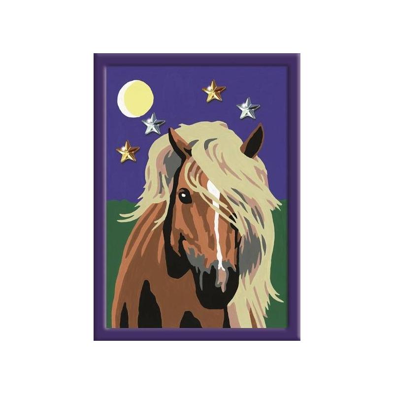 Картина по номерам Лошадь в лунном свете от Nils