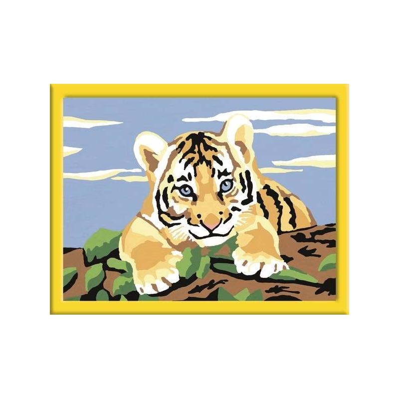 RAVENSBURGER Картина по номерам Тигренок ravensburger картина по номерам щенок ретривера