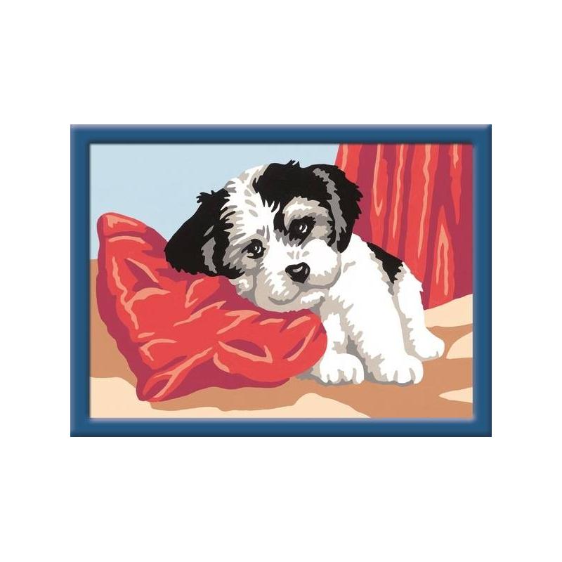 RAVENSBURGER Картина по номерам Щенок ravensburger картина по номерам забавные щенки