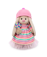 Мягкая игрушка Зайка Ми в полосатом платье с леденцом 32 см BUDI BASA