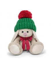 Мягкая игрушка Зайка Ми в зеленой шапке 15 см BUDI BASA