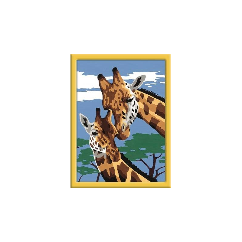 RAVENSBURGER Картина по номерам Веселые жирафы