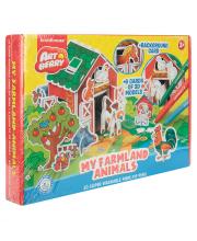 Игровой 3D пазл для раскрашивания Artberry My Farmland Animals Erich Krause