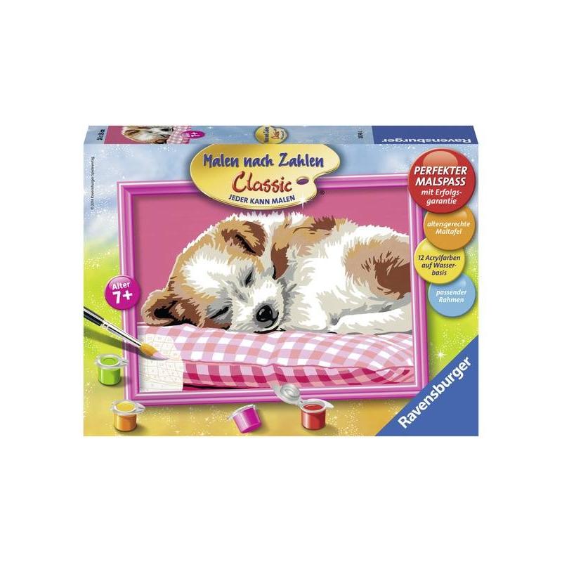 RAVENSBURGER Картина по номерам Спящий щенок ravensburger картина по номерам щенок ретривера