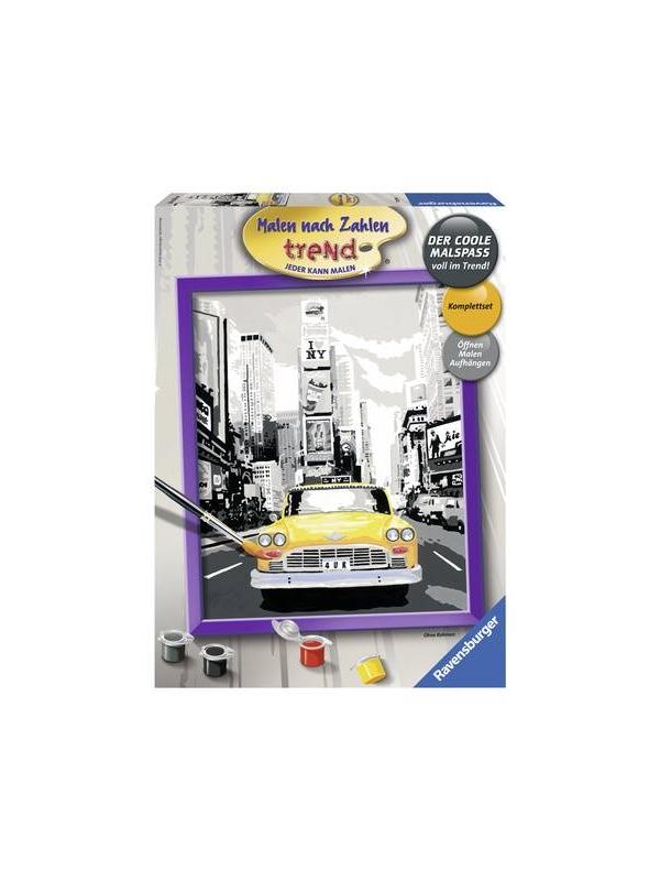 Картина по номерам Такси в Нью-Йорке RAVENSBURGER