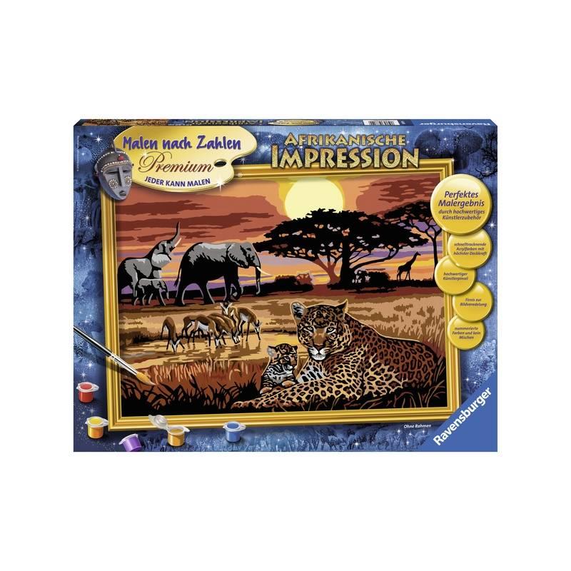 RAVENSBURGER Картина по номерам Африка ravensburger картина по номерам забавные щенки