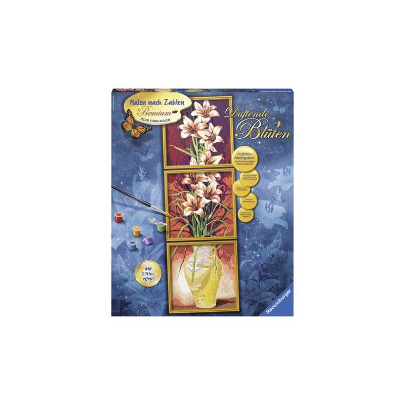 RAVENSBURGER Картина по номерам Цветы наборы для рисования ravensburger раскрашивание по номерам кролик в ромашках размер картинки