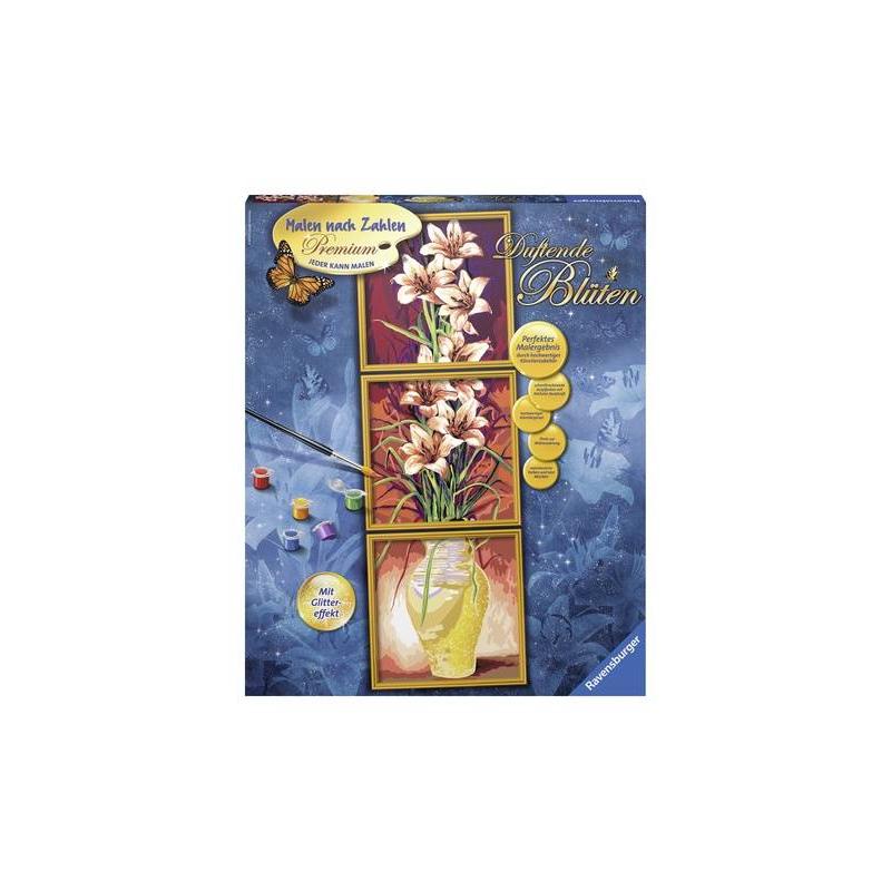 RAVENSBURGER Картина по номерам Цветы