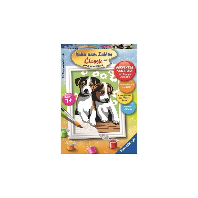 RAVENSBURGER Картина по номерам Забавные щенки ravensburger картина по номерам щенок в корзине