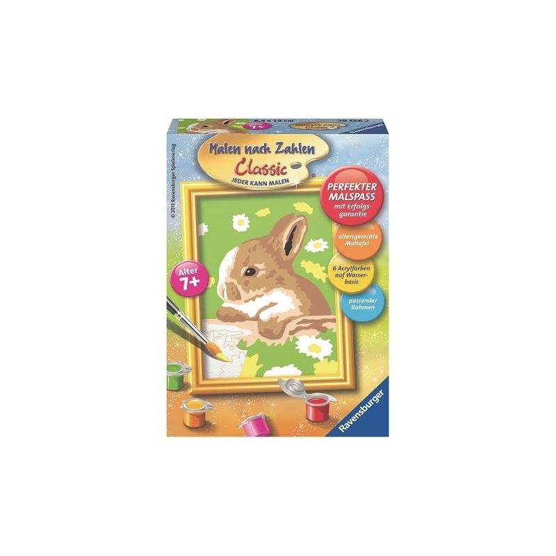 RAVENSBURGER Картина по номерам Кролик в ромашках
