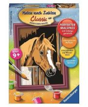 Картина по номерам Лошадь в стойле